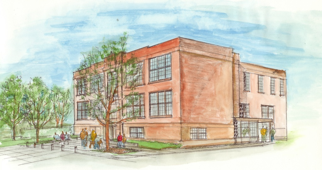 Color Rendering of New Building