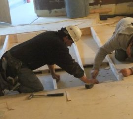 Carpentering the first floor ramp